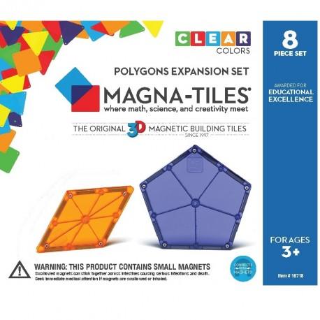 Byggemagneter ekstra dele - 8 stk. (Polygoner) - Magna-Tiles