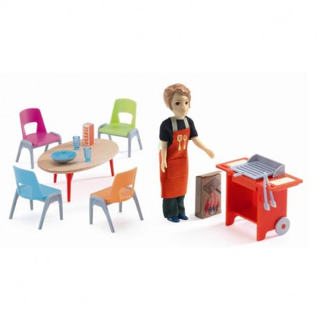 Barbecue sæt - Petit Home dukkehusmøbler - Djeco