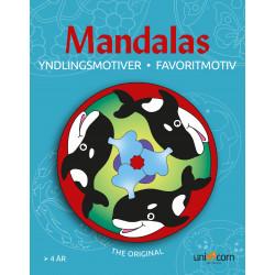 Yndlingsmotiver - Malebog fra 4 år - Mandalas