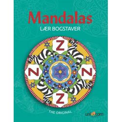 Lær bogstaver - Malebog - Mandalas