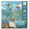 Havet - Bog med genanvendelige klistermærker - Djeco