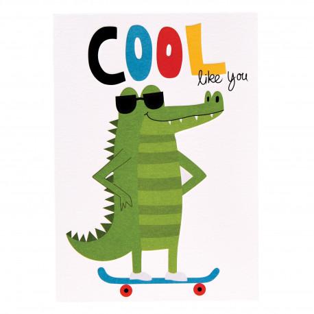 Cool crocodile - Kort & kuvert