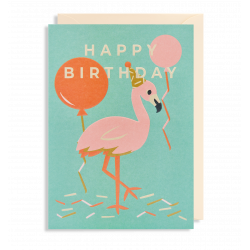 Happy Birthday Flamingo - Kort & kuvert - La