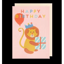 Happy Birthday Løve - Kort & kuvert - Lagom