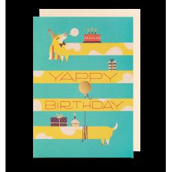 Fødselsdagskort med hund - Kort & kuvert - Lagom