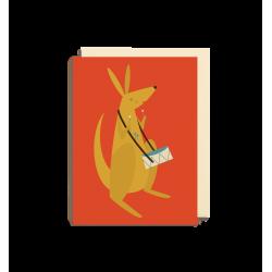 Kænguru med tromme - Lille kort & kuvert - Lagom