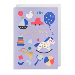 Baby Boy Tillykke - Kort & kuvert - Lagom