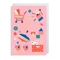 Baby Girl Tillykke - Kort & kuvert - Lagom