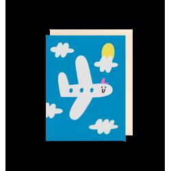 Glad flyver - Lille kort & kuvert - Lagom