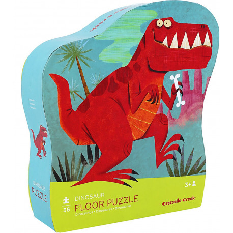 Tossede dinosaurer - Gulvpuslespil 36 brikker - Crocodile Creek