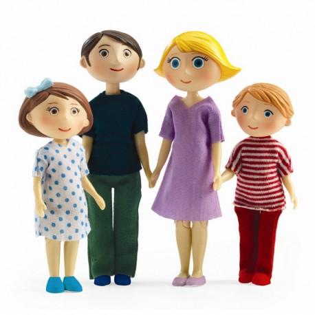Gaspard, Romy & børn - Dukker til dukkehus - Djeco