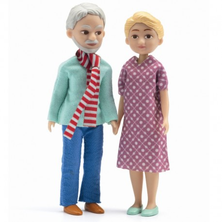 Bedsteforældre dukker - Petit Home dukkehus - Djeco