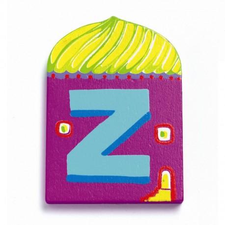Djeco træbogstaver Hus - Z