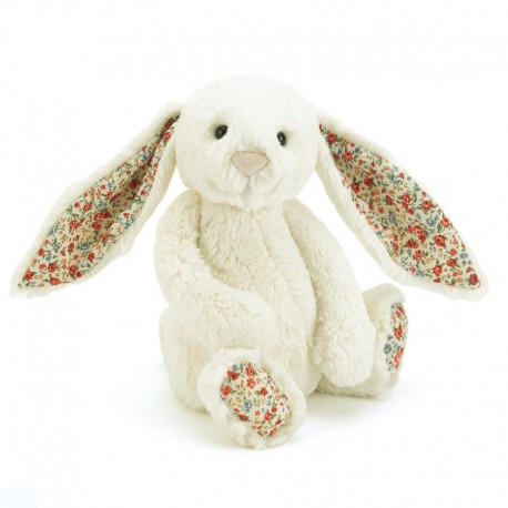 Jellycat Bushful bamse - Hvid blossom kanin - Mellem
