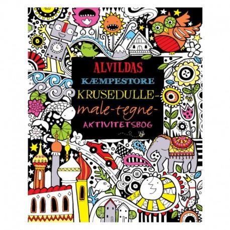 Alvildas Kæmpestore Krusedulle-Male-Tegne Aktivitetsbog