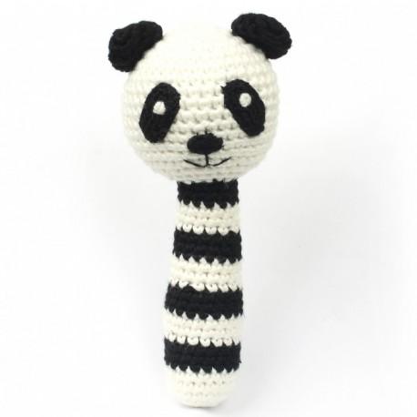 NatureZOO hæklet rangle - Panda