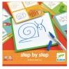 Step by step tegneleg - Animo og Co - Djeco